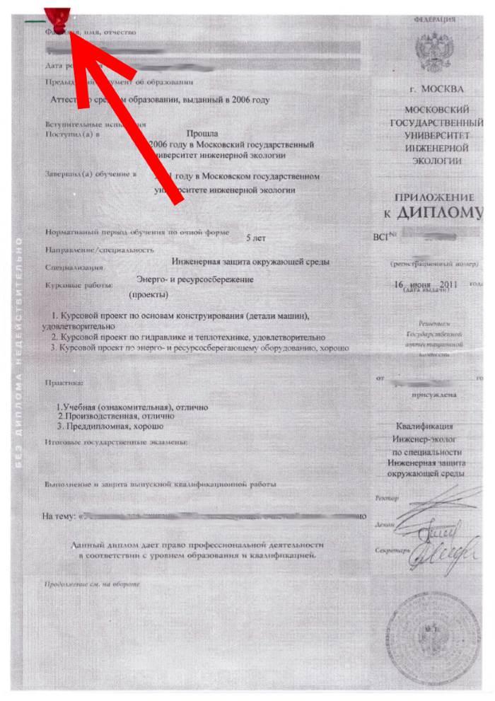Перевод диплома наш перевод примет любой вуз Лицевая сторона перевода приложения к диплому на английский заверенная печатью бюро